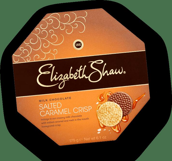 Elizabeth Shaw Milk Chocolate Salted Caramel Crisp header pack