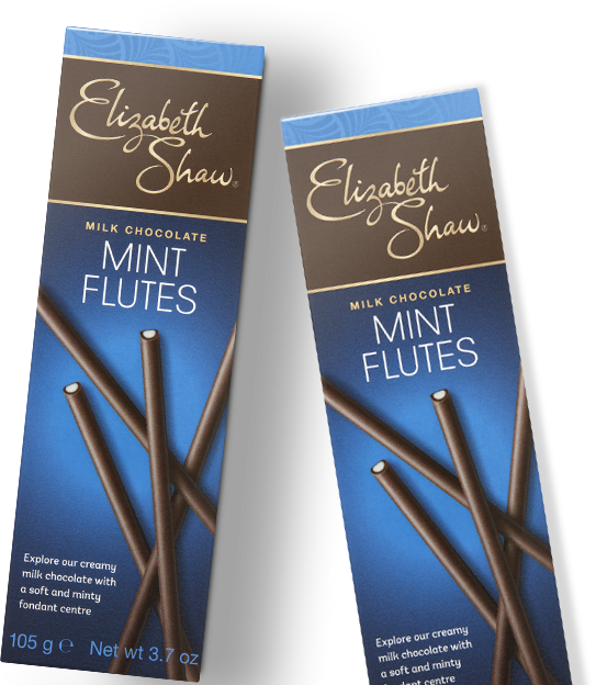 Elizabeth Shaw Milk Mint Chocolate Flutes packs